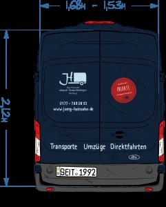 Heinsohn Transporte Abmessungen